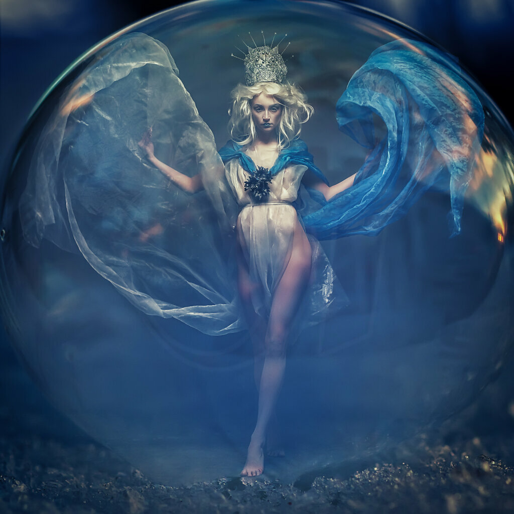 Ice Princess in a Bubble